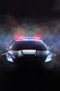 800x1280 Corvette Police Car Fanart 10k