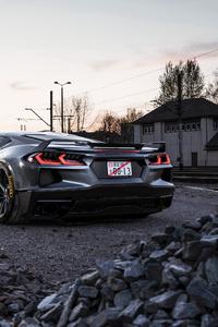 480x800 Corvette Rear 2020 4k