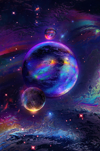 1280x2120 Cosmonaut Planet 4k