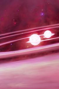 Cosmos Nebula Space Pink Galaxy 4k