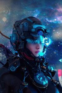 640x1136 Cosmos Scifi Girl 5k