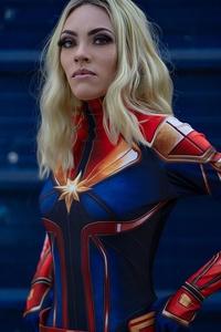 2160x3840 Cosplay Captain Marvel 5k