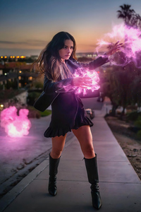720x1280 Cosplay Of Scarlet Witch 5k