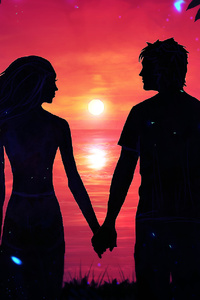 640x960 Couple Holding Hands Looking At Each Other