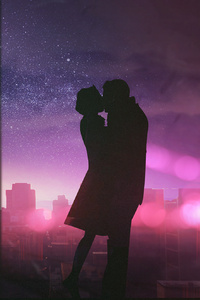 Couple Romantic Kissing