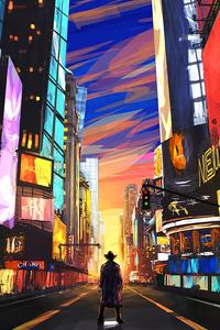 Cowboy In New York 4k