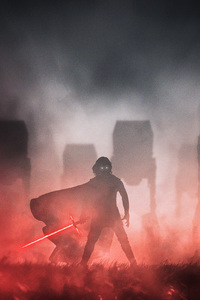 1440x2560 Crait Kylo Ren Star Wars Digital Art