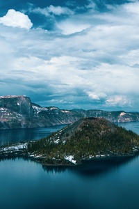 720x1280 Crater Lake In Oregon 5k