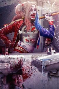 800x1280 Crazy Harley Quinn
