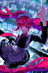 1080x2160 Crazy Heights Anime Girl
