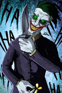 Crazy Joker Art 4k