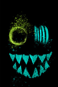 320x480 Crazy Neon Eye Teeth