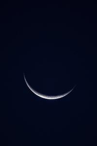 Crescent Moon Night Sky 5k