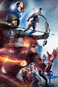 1080x2160 Crisis On Earth X Arrowverse Crossover 2017