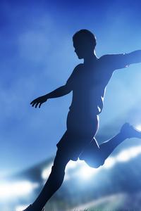 Cristiano Ronaldo Kicking Football
