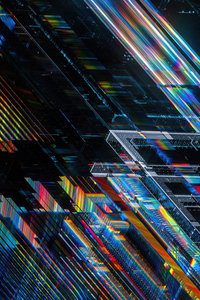 1440x2560 Crosschain Shapes 4k
