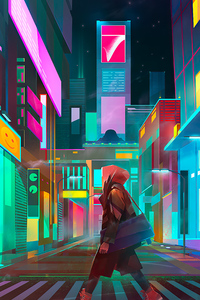 Crosswalk Night City Cyberpunk