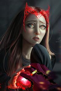 1440x2960 Crying Wanda Vision 5k