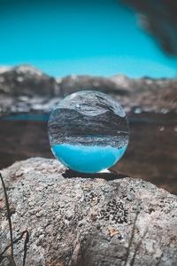 Crystal Bal Transparent Nature Background Reflection 5k