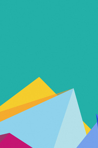 Crystal Mountains Minimalism 3d
