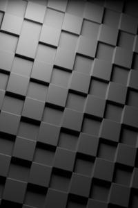 800x1280 Cubes Dark Minimalism