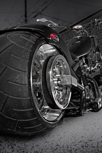 Custom Chooper Wide Tyre