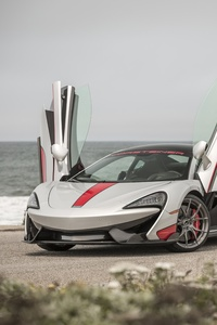 480x800 Custom Gray McLaren 570S With Vertical Doors