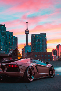 Custom Lamborghini Aventador In CN Tower