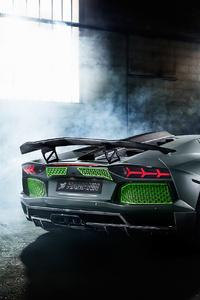 Custom Lamborghini Aventador Rear
