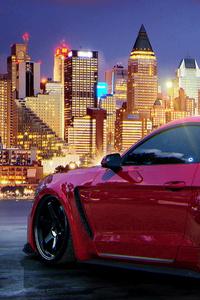 2160x3840 Custom Red Mustang 5k