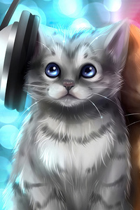 Cute Cats Listening Music