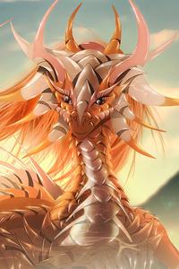 Cute Dragon Art 4k