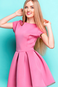 480x854 Cute Girl Pink Dress 8k