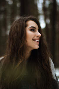 1242x2688 Cute Girl Smiling Portrait