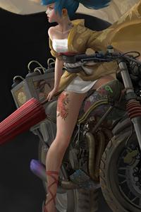 Cute Girl With Bike 4k