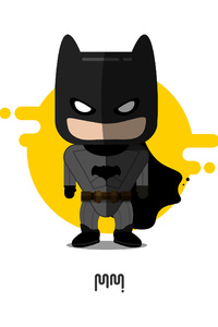 Cute Little Batman Minimalism 4k