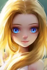 Cute Little Girl Blonde Eyes