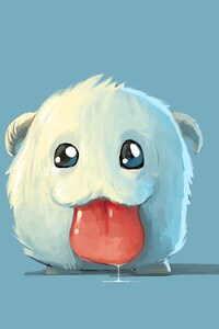 800x1280 Cute White Poro
