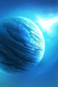 1080x1920 Cyan Planets