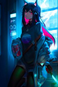 Cyber Anime Girl 4k