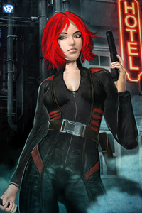 Cyber Assassin Girl 5k