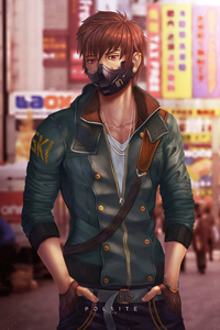1242x2688 Cyber Boy Mask 4k