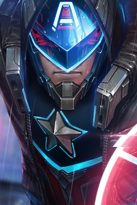 640x960 Cyber Captain America Marvel Future Fight