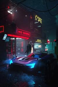 1080x2280 Cyber City Blade Runner 5k
