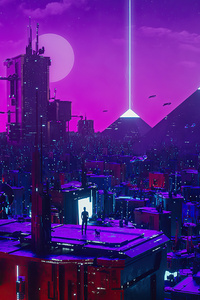 1440x2560 Cyber City Neon Lights 5k