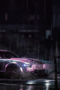 Cyber Ford Mustang 4k