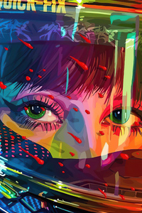 1080x1920 Cyber Girl Ocean Eyes 4k
