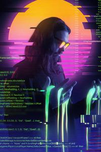 Cyber Guy Retrowave 5k