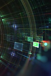 800x1280 Cyber Hud Fractal Art 4k