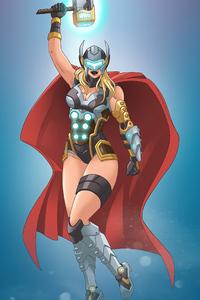1080x1920 Cyber Lady Thor